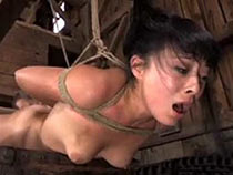 Asian girl gets bondage chore